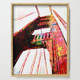 Golden Gate Bridge - San Francisco - Pop Art Serving Tray