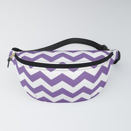 Purple Chevron Fanny Pack