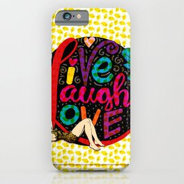 life quote and a girl iPhone Case