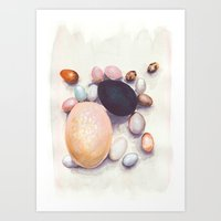 eggs Art Prints featuring Eggs by Bridget Davidson