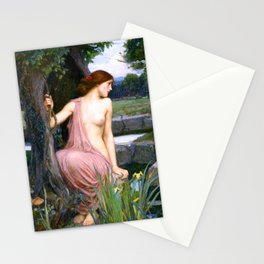 Echo And Narcissus WM Waterhouse Stationery Cards