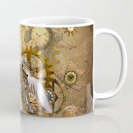 Wonderful steampunk horse with white mane Coffee Mug
