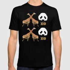 XOXO wild animals Mens Fitted Tee Black MEDIUM