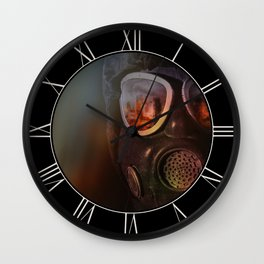 Fire in the eyes Wall Clock