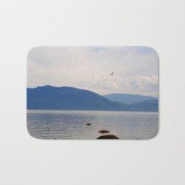 Post card seagull Bath Mat