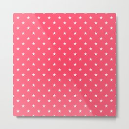 Small Stars on Pink Metal Print