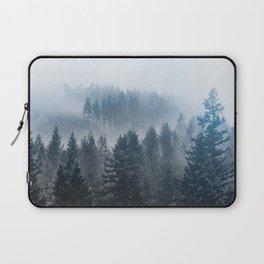 Forest Fog Mountain - Wanderlust Nature Photography Laptop Sleeve