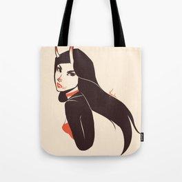 Pretty lady I saw on the street Tote Bag