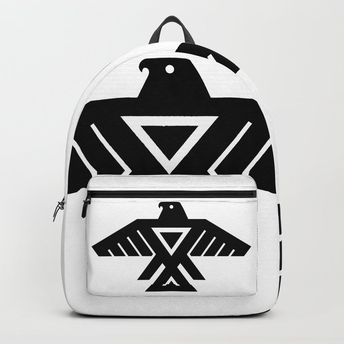 Native American Thunderbird Symbol Flag Backpack By