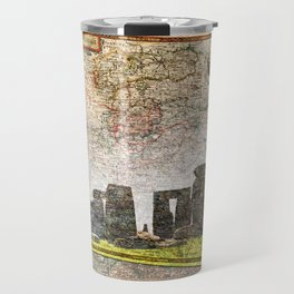 Stonehenge Art Map Travel Mug