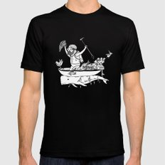 In which sea mammals can be used for propulsion in maritime exploration Black LARGE Mens Fitted Tee