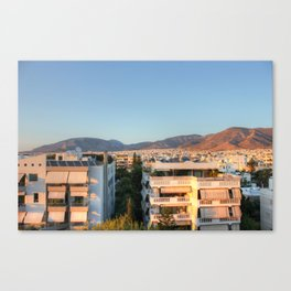 Evening Light Over Athens Canvas Print