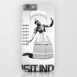 retro noir et blanc Visit India iPhone Case