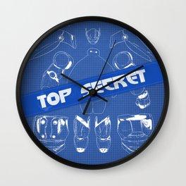 Baymax Blueprint Big Hero Wall Clock