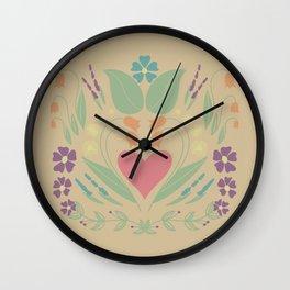 Reflective Botanicals Wall Clock