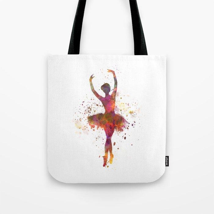 Woman ballerina ballet dancer dancing Tote Bag