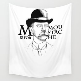 M is for Moustache, MUST STACHE Wall Tapestry
