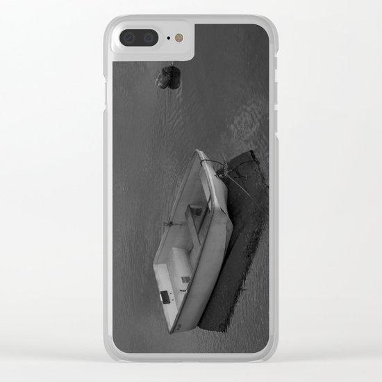 Boat B&W Clear iPhone Case