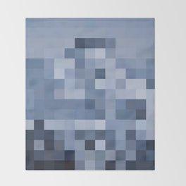 El Gato the Pixel Glacier Throw Blanket