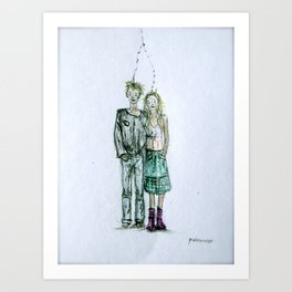 Connected. Art Print