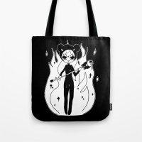 devil Tote Bags featuring ▴ devil ▴ by PIXIE ❤︎ PUNK