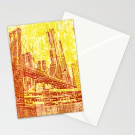 big yellow apple Stationery Cards
