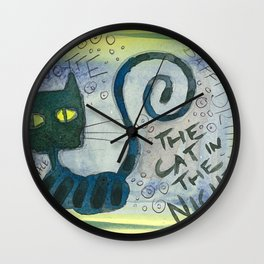 The Cat In The Night Wall Clock
