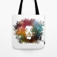 lion king Tote Bags featuring Lion King by jbjart