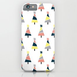 Colorful Christmas  tree pattern iPhone Case