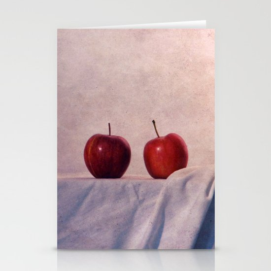 two apples Stationery Cards