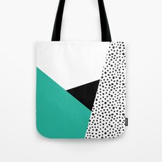Geometric Modern Triangles with Spots Tote Bag