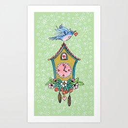 Spring Cuckoo Clock Bird Art Print