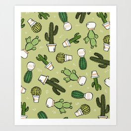 Cacti Dreams Art Print