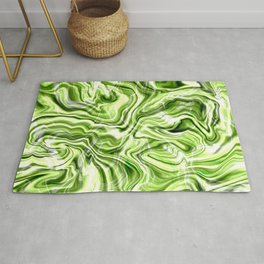 Green marble texture Rug