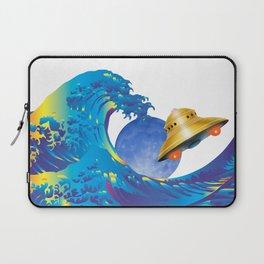 Hokusai Rainbow, UFO & the Moon  Laptop Sleeve