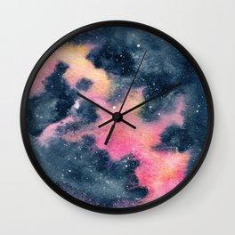 Pink Yellow Galaxy (Lesley's Galaxy) Wall Clock