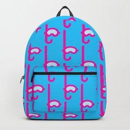Pink Snorkel - Diver Pattern Backpack