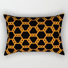 Orange Freeman Lattice Rectangular Pillow