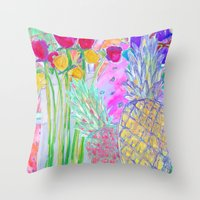 fancy Throw Pillows featuring FANCY  by Happy as Flynn
