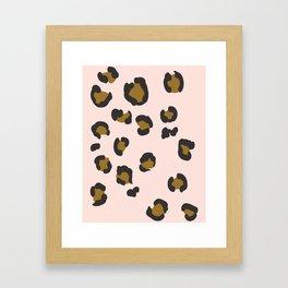 SEEING SPOTS - BLUSH Framed Art Print