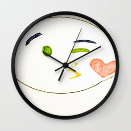 Kiss Emoji Wall Clock