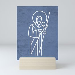 Saint Joseph digital illustration Mini Art Print