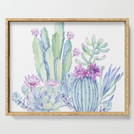 Mixed Cacti White #society6 #buyart Serving Tray