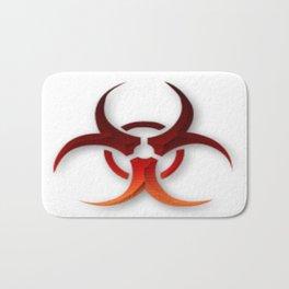 Rusty Biological Hazard Symbol Bath Mat