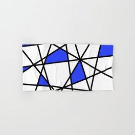 Geometric Modern triangles - white blue Hand & Bath Towel