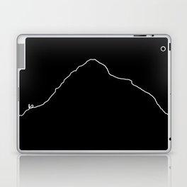K2 Art Print / Black Background White Line Minimalist Mountain Sketch Laptop & iPad Skin