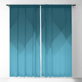 Abstract Mountains in Blue Blackout Curtain