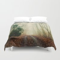 helen Duvet Covers featuring GHOST PATH by Catspaws