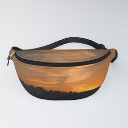 Montana wildernes lake sunset Fanny Pack
