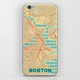 Boston Map Retro iPhone Skin